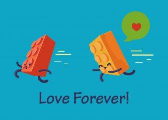 Lego Love Forever!!! T-shirt