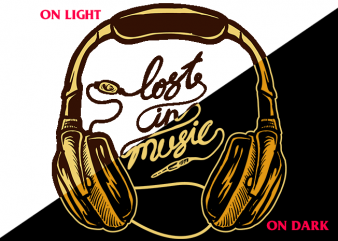 Lost In Music (on Dark and LightTees) design for t shirt