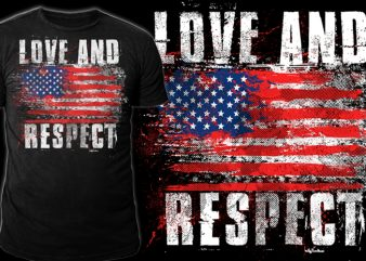 LOVE AND RESPECT graphic t-shirt design