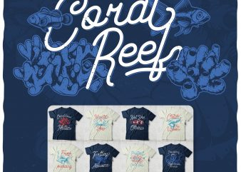 Coral Reef Bundle t shirt vector file