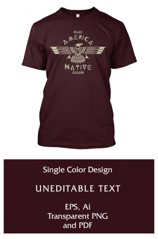 Make America Native Again tshirt designs for merch by amazon