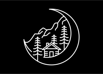 Moon Life t shirt designs for sale