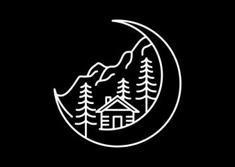 Moon Life print ready vector t shirt design