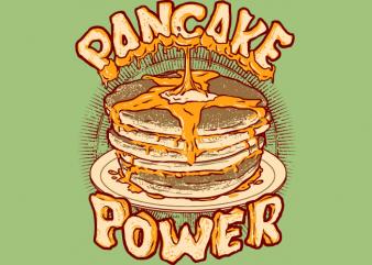 Pancake Power vector t-shirt design for commercial use
