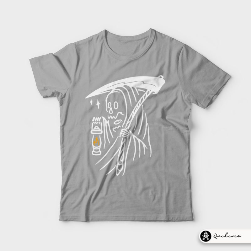 Grim Reaper and Lighting vector shirt designs