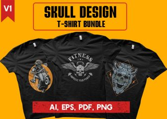Skull Design. T-shirt Bundle
