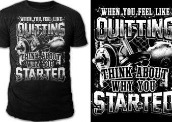 NO QUITTING T shirt vector artwork