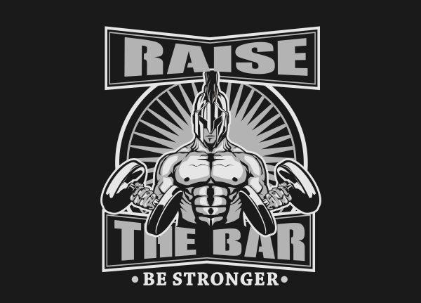 RAISE THE BAR print ready shirt design