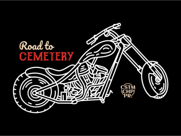 Road to Cemetery vector t-shirt design