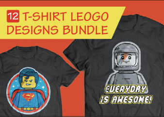 12 Set Lego Designs T-shirt – Bundle