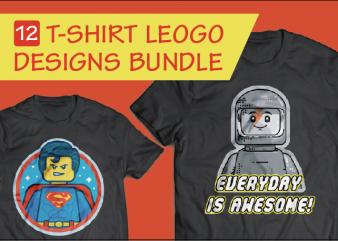 12 Set Lego Designs T-shirt – Bundle