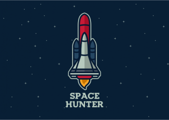 Space Hunter t shirt template vector