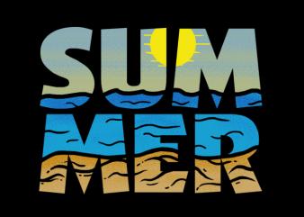 Summer Sunset t shirt template vector