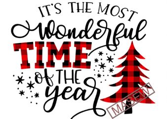 Its the most wonderful time of the year Svg Cuttable Buffalo Plaid Svg Christmas Svg Buffalo Plaid Svg Christmas Svg Designs Cricut Files