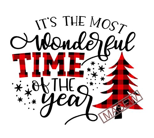 Its The Most Wonderful Time Of The Year Svg Cuttable Buffalo Plaid Svg Christmas Svg Buffalo Plaid Svg Christmas Svg Designs Cricut Files Buy T Shirt Designs