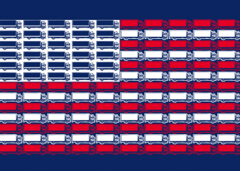 Trucker Flag t shirt design to buy
