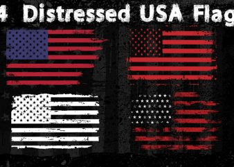 4 Distressed USA Flag