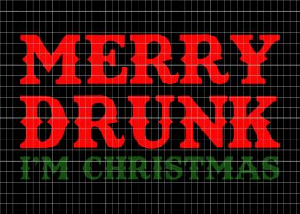 Merry drunk I'm christmas t shirt designs for sale