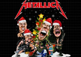 Metallica christmas t shirt designs for sale