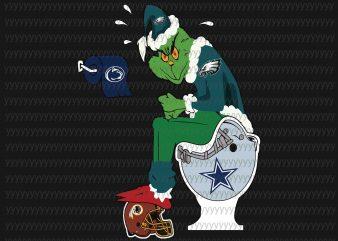 Grinch Philadelphia Eagles svg, Ginch svg, football svg, png, dxf, eps file print ready shirt design