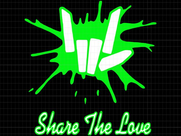 Share the love t shirt template vector