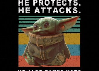 Baby Yoda He Protects He Attacks He Also Takes Naps,Star Wars The Mandalorian The Child First Memories Floating Pod t shirt template