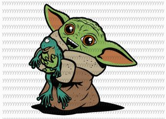 Baby yoda svg, star wars svg, the mandalorian the child svg, png, dxf, eps file vector t-shirt design template