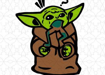 Playing Baby Yoda svg, the child svg, star wars svg t shirt illustration
