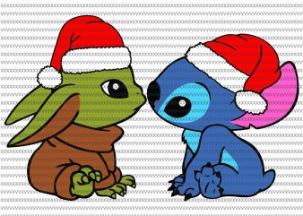 Baby Yoda And Stitch Christmas, Baby Yoda svg, The Mandalorian The Child , Baby Yoda Png, star wars svg, png, The Child png t shirt template