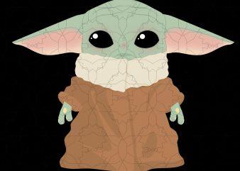 Baby yoda,Baby yoda the mandalorian t shirt template