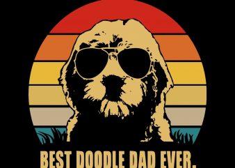 Best doodle dad ever, dad doodle vector t-shirt design template