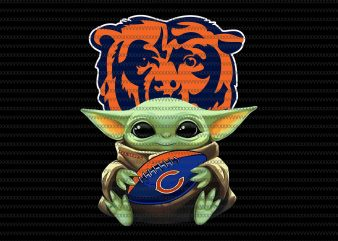 Baby yoda chicago bears png, chicago bears logo, chicago bears vector, Baby Yoda, The Mandalorian The Child Christmas png , Baby Yoda Png, star wars png, The Child png