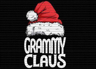 Grammy Claus Svg, Merry Christmas svg, Santa hat, santa quote svg, png, dxf, eps file t shirt design png