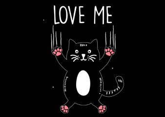 love me t shirt vector graphic