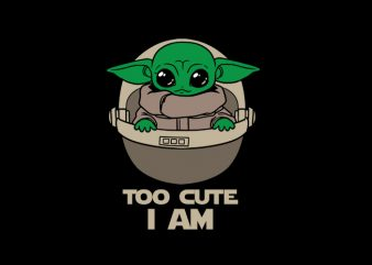Baby Yoda Png vector t-shirt design for download AI PSD PNG files