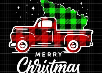 Merry christmas truck t shirt designs for sale