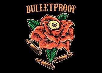 bulletproof tshirt design