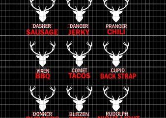 Funny Christmas Reindeer Hunter Deer Meat Hunting t shirt graphic design