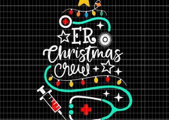 ER Christmas Crew Emergency room Nurse Techs Secretary vector clipart