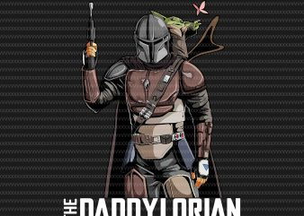 The Daddylorian, Baby Yoda Png, Jpg, The Mandalorian The Child , Baby Yoda Png, star wars, png, The Child png t shirt designs for sale