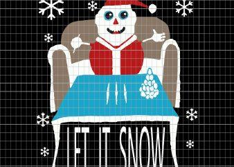Cocaine Santa let it snow christmas t shirt vector file