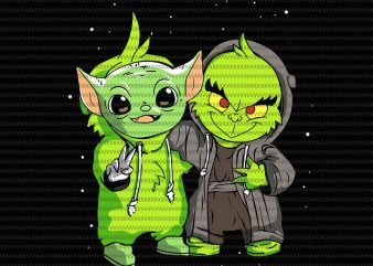 Grinch with The Child Baby Yoada, he Mandalorian The Child Christmas png , Baby Yoda Png, star wars png, The Child png t shirt design template
