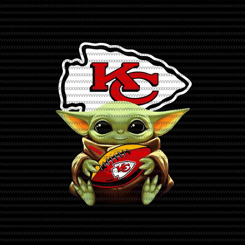 Baby yoda Kansas City Chiefs png, Kansas City Chiefs logo, Kansas City Chiefs vector, Baby Yoda, The Mandalorian The Child Christmas png , Baby Yoda Png, star wars png, The Child png t-shirt designs for merch by amazon