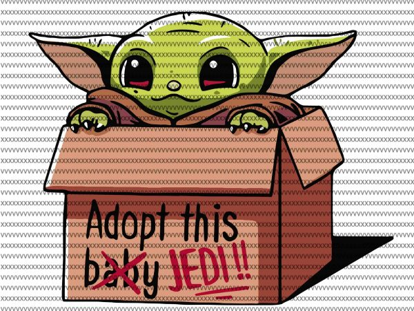 Adopt this baby jedi svg, The Mandalorian The Child svg , Baby Yoda christmas svg, star wars svg, png, The Child png t shirt vector