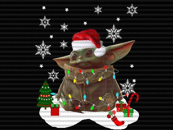 The Mandalorian The Child Christmas png , Baby Yoda Png, star wars png, The Child png t shirt designs for sale