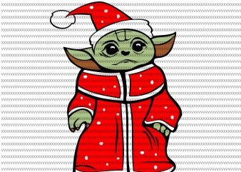 The Mandalorian The Child svg , Baby Yoda christmas svg, Baby Yoda red, star wars svg, png, The Child png t shirt designs for sale