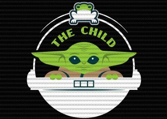 Star Wars The Mandalorian The Child Floating Pod Frog Snack svg, png, dxf, eps file t shirt template vector