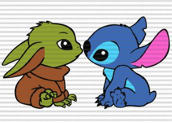 Baby Yoda And Stitch Mistletoe Christmas, Baby Yoda svg, The Mandalorian The Child , Baby Yoda Png, star wars svg, png, The Child png t shirt template