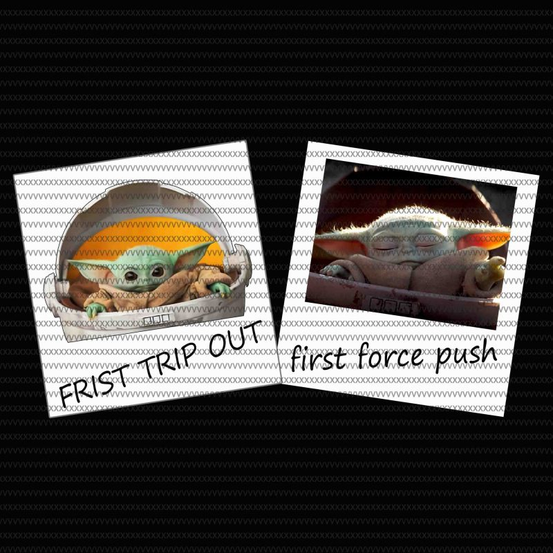 Frist trip out, first force push, The Mandalorian The Child Christmas png , Baby Yoda Png, star wars png, The Child png tshirt factory