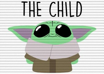The Mandalorian The Child svg , Baby Yoda christmas svg, star wars svg, png, The Child png t shirt designs for sale